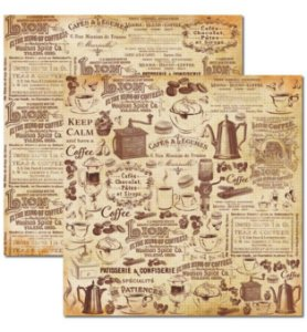 Papel scrapbook 30x30 Café 1 - Arte Fácil