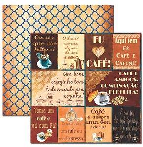 Papel scrapbook 30x30 Café 3 - Arte Fácil