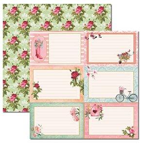 Papel scrapbook 30x30 Le Jardin 5 - Arte Fácil