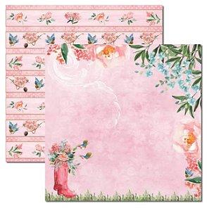 Papel scrapbook 30x30 Le Jardin 1 - Arte Fácil