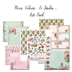 Kit 5 papéis 30x30 coleção Le Jardin - Arte Fácil