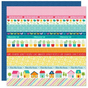 Papel para scrapbook - 30x30 - Dupla Face - Home Sweet Home - Bella Blvd