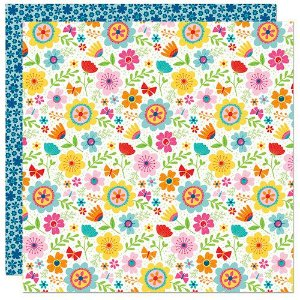 Papel para scrapbook - 30x30 - Dupla Face  - Home Sweet Home - Flores - Bella BLVD