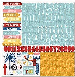 Adesivo 30x30 - Beach Boardwalk - Carta Bella