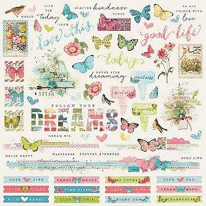 Adesivo 30x30 - Simple Vintage Botanicals - Simple Stories