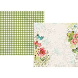 Papel para scrapbook 30x30 - Dupla Face - Simple Vintage Botanicals - Embrace Life - Simple Stories