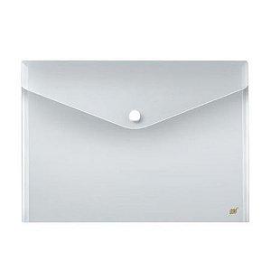 Envelope  Plástico com Botão - A4 - Cristal - Yes