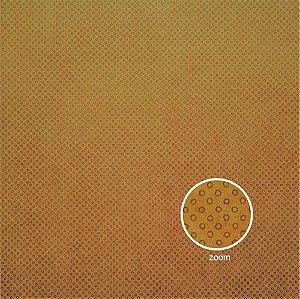 Papel para Scrapbook - Face Simples - Hand Draw Kraft - Pontilhado/Dotted Vazado - Papelero
