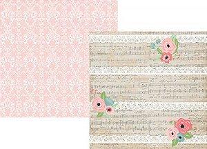 Papel scrapbook 30x30 Romance - Love & Adore - Amor -  Stories