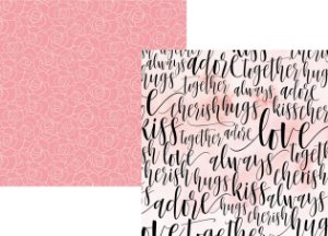 Papel scrapbook 30x30 Romance - Forever & Always - Amor - Simple Stories