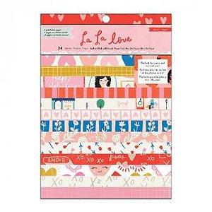 Bloco scrapbook 15x20 - La La Love - Amor - Crate Paper