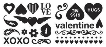 Carimbos emborrachados ( Foam) - Love - Valentine - Amor - Making Memories