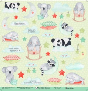 Papel scrapbook 30x30 My Little Big Love - My Dream 02 - My Memories Crafts