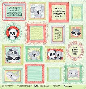 Papel scrapbook 30x30 My Little Big Love - My Baby 04 - My Memories Crafts