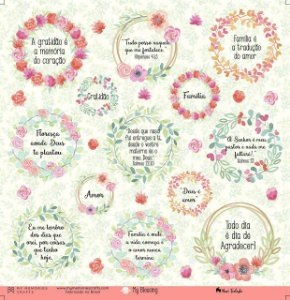 Papel scrapbook 30x30 My Blessing - My Prayer 04 - My Memories Crafts
