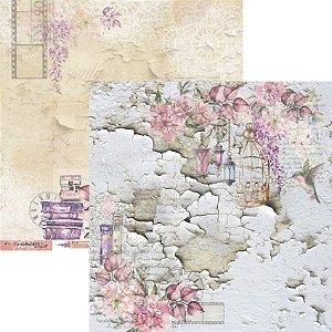 Papel para scrapbook - 30x30 - Dupla Face - Coleção Essence of Life - Folha 03 - EOL03 - Carina Sartor