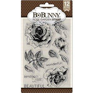 Cartela de carimbos de silicone - Rose Garden - Bo Bunny