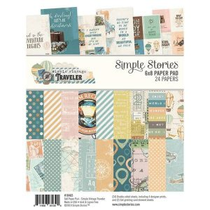 Bloco de papeis 15x20 - Traveler Paper - Simple Stories