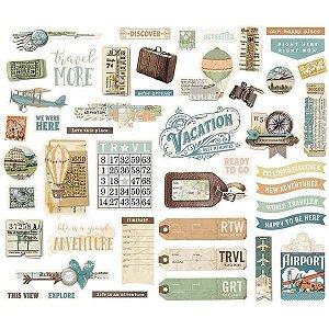 Bits & Pieces Die-Cuts - Traveler - Simple Stories