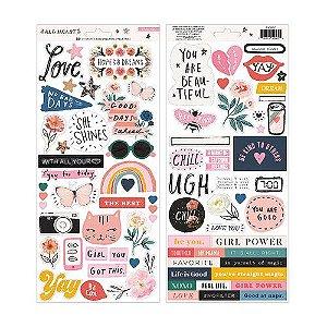 Adesivo 15x30 - Frente e Verso - Coleção All Heart - Crate Paper