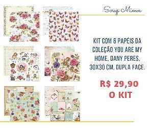 Kit com 06 papéis da Coleção You Are My Home - Dany Peres