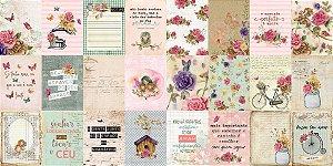 Cards com 48 peças, tamanho 7,5 x 10cm  - Coleção You are my Home - Dany Peres