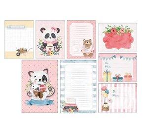 Kit de cards Um presente para você -  Abraço de Urso - Juju Scrapbook