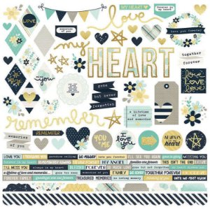 Adesivo 30x30 - Heart - Simple Stories