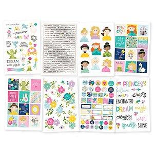 Adesivo 10x15cm  - 198 peças - Little Princess - Simple Stories