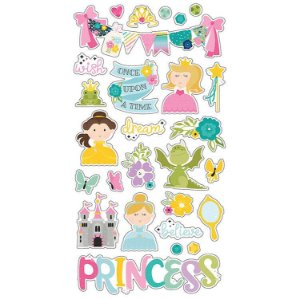 Adesivo em chipboard 15x30cm - Little Princess - Simple Stories