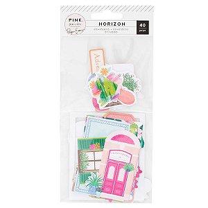 Die Cuts - Horizon - 40 peças - Pink Paislee - American Crafts