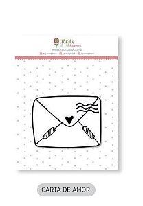 Cartela de carimbo de silicone Mini - Carta de Amor - Juju Scrapbook