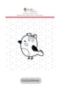 Cartela de carimbo de silicone Mini - Passarinha - Juju Scrapbook