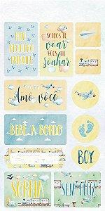 Cartela de adesivos - 15x30 - Baby Boy - Arte Fácil
