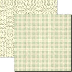 Papel para scrapbook - 30x30 - Dupla Face -  Verde - Básico 7 - Arte Fácil
