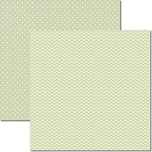 Papel para scrapbook - 30x30 - Dupla Face -  Verde - Básico 8 - Arte Fácil