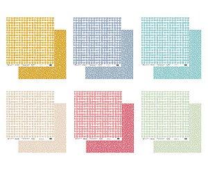 Kit 06 papeis de scrapbook 30x30 Coleção My Colors - My Memories Crafts