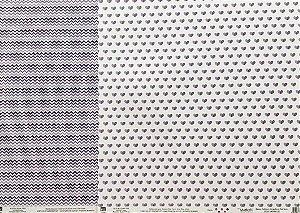 Kit de 02 papeis de scrapbook 30x30 - Dupla Face - Basico Roxo - TEC