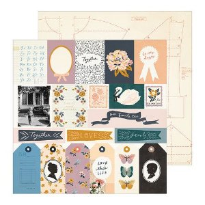 Papel para scrapbook - 30x30 - Dupla Face - Heritage - Recollection - Maggie Holmes - Crate Paper