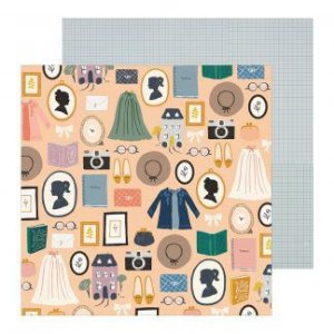 Papel para scrapbook - 30x30 - Dupla Face - Heritage - Decades - Maggie Holmes - Crate Paper