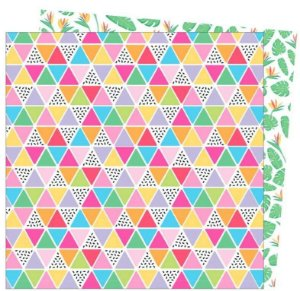 Papel para scrapbook - 30x30 - Dupla Face - Wild Card - Damask Love - Tropical Vibes - American Craft
