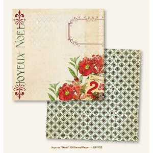 Papel para scrapbook - 30x30 - Dupla Face - Noel - Joyous - MME