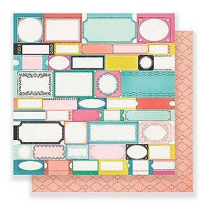 Papel para scrapbook - 30x30 - Dupla Face - Carousel - Festival - Crate Paper
