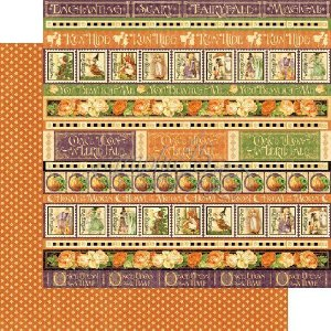Papel para scrapbook - 30x30 - Dupla Face - An Eerie Tale - Wicked Whimsey - Graphic 45