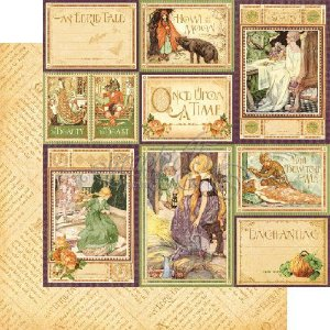 Papel para scrapbook - 30x30 - Dupla Face - An Eerie Tale - You Bewitch Me - Graphic 45