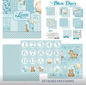 Bloco papel scrapbook Bebê menino SBD-002 - Litoarte