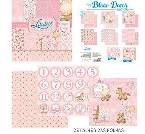 Bloco papel scrapbook Bebê Menina SBD-001 - Litoarte