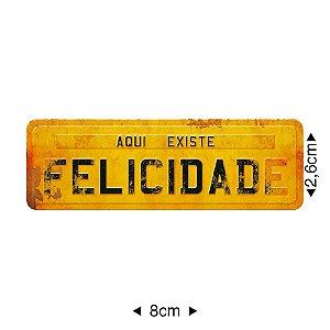 Apliques em MDF placa FELICIDADE, APM8-344 - Litoarte