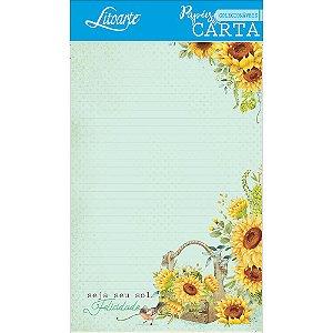 Kit papel de carta PEC 010 - 5 folhas - Girassol - Litoarte