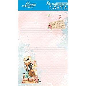 Kit papel de carta PEC 013 - 5 folhas - Viagem - Litoarte
